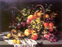 Still Life with a butterfly.  (2001) 50х60  (oil on canvas)