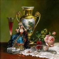 Coquette. (2001) 45х45 (oil on canvas)