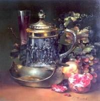 Dear Guest. (1999) 40х40 (oil on canvas)