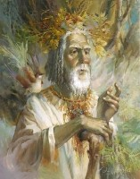 The Master of the Forest.(1997 ) 50х40 (oil on canvas)