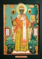St. Nicholas. (Wood, gesso, tempera and gold leaf)