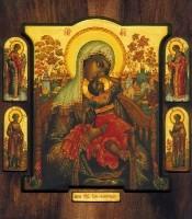 Icon BM Vzygranie. (Wood, gesso, tempera and gold leaf)