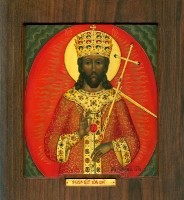 The image of the Lord King of King. (Wood, gesso, tempera and gold leaf)