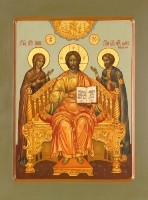 Икона   Господь Вседержитель с предстоящими святыми
